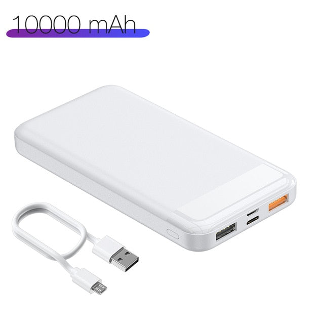 20000mAh 10000mAh USB Fast Power Bank Portable Charging Mobile Phone External Battery Charger Powerbank For Xiaomi Mi 8 iPhone X