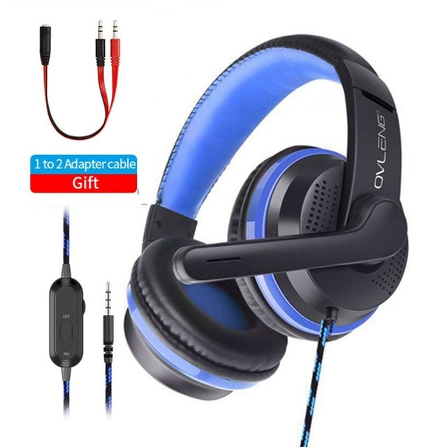 For PS4 High quality Gamer Headphone With Microphone 3.5mm Jack Noise Cancel Gaming Headset Stereo Bass casco For Phone Tablet