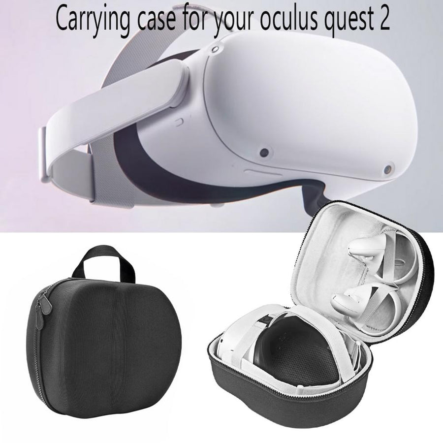 Hard EVA Travel Storage Bag For Oculus Quest 2 VR Headset Portable Convenient Carrying Case VR Headset Controllers Accessories