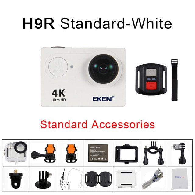 Action Camera 4K/30FPS 1080p/60fps 20MP Ultra HD  Mini Helmet Cam WiFi Waterproof Sports Camera From EKEN H9 H9R