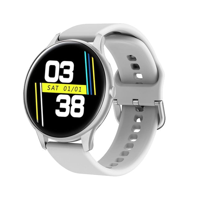 2020 New Color Full screen touch Smart Watch Women men Activity tracker Sport Heart Rate Blood Pressure Waterproof Smartwatch