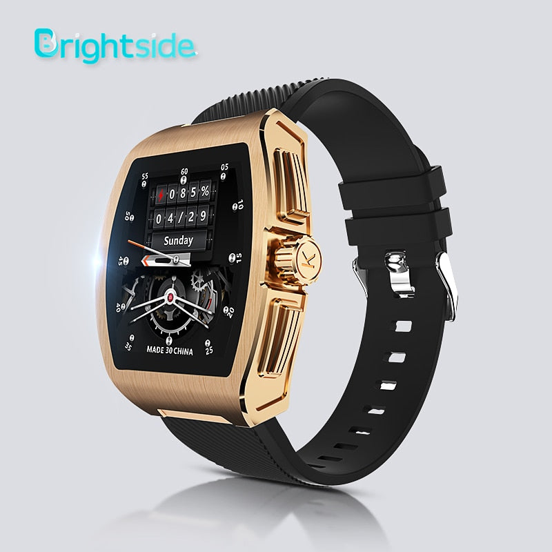 Brightside C1 Smart Watch Men for Android iOS Smartwatch Heart Rate and Blood Pressure Monitor Fitness Sport Watches Waterproof