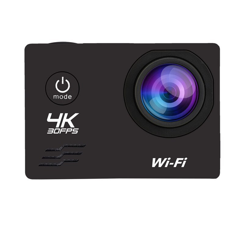 Action Camera HD 4K/60Fps Wifi 16MP 2.0 LCD 170D Lens Helmet Camera 30M Go Waterproof Pro Sports Camera Video Camcorder