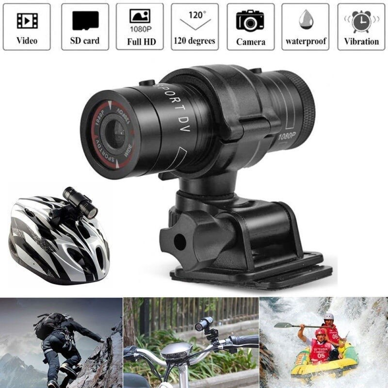 Sport Camera F9 1080P Outdoor Sports Motorcycle Helmet Camera Metal Waterproof IP6 Sports Camera Recording Action Camera
