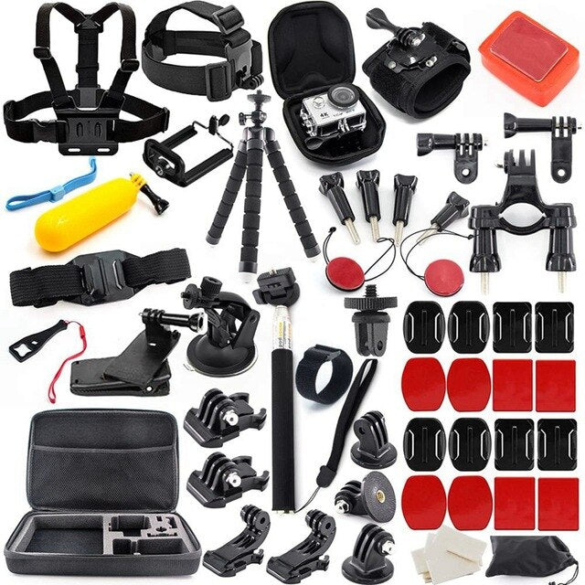 Action Camera Accessories Kit for GoPro Hero 7 6 5 4 3+ 3 2 1 Hero Session 5 Black Accessory Bundle Set