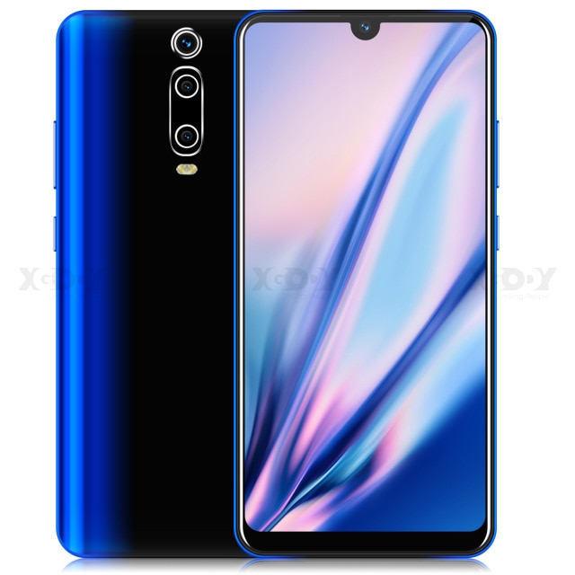 XGODY 3G Mobile Phone 9T 1GB 4GB 6.26'' QHD Screen MTK6580 Quad Core Android 9.0 Waterdrop Full Screen 2800mAh Smartphone