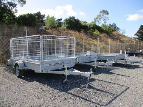 8x5 Single Axle Premium Heavy Duty Galvanized Box Trailer