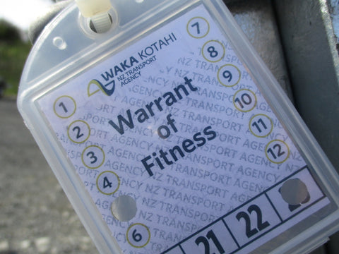Trailer Warrant of Fitness + Registration