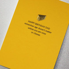 Card: Dad Birthday - Age Doesn't Matter