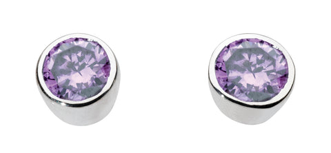 Amethyst Stud Earrings by Dew