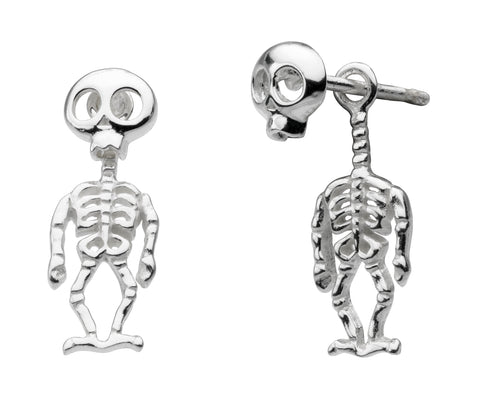 Silver Skeleton Earrings by Dew