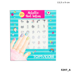 Top Model Metallic Nail Tattoos