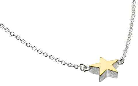 Gold Plated Star Necklace by Dew