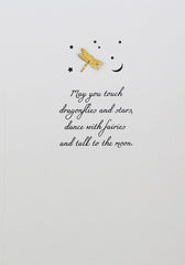 Card: Dragonflies and Stars