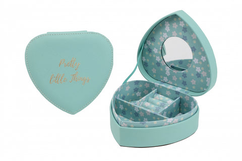 Teal 'Pretty Little Things' Jewellery Box