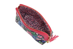 Printed and Pressed Floral Make Up Bag