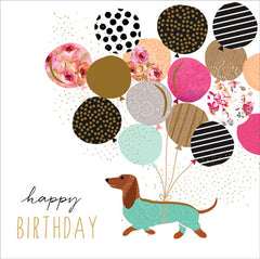 Card: Happy Birthday with Sausage Dog