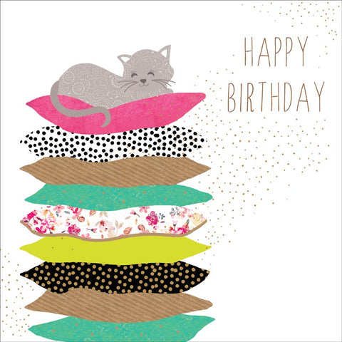 Card: 'Cat Nap' Birthday