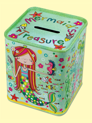 'Mermaid's Treasure' Money Tin