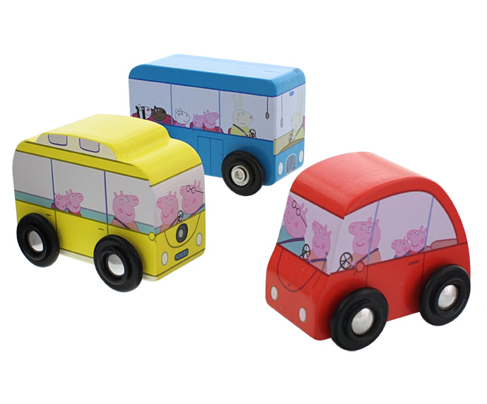 Peppa Pig Wooden Bus - Blue