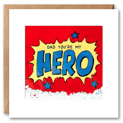 Card: Dad You're My Hero