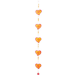 String of Red, Orange & Yellow Heart Sun Catcher