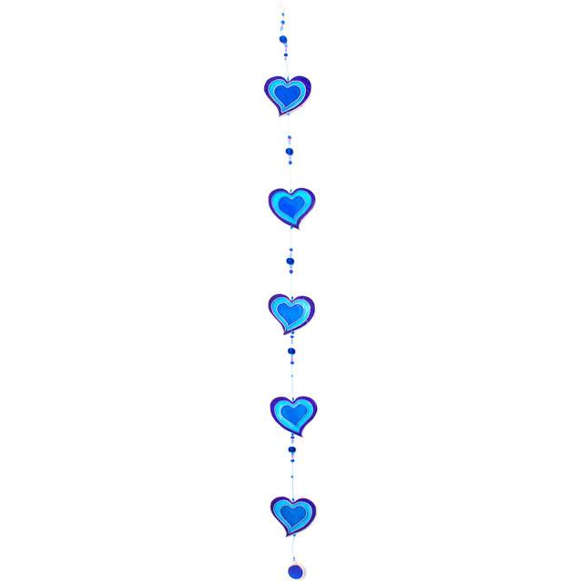 String of Blue Heart Sun Catcher