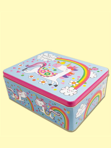 Unicorn Rectangular Tin
