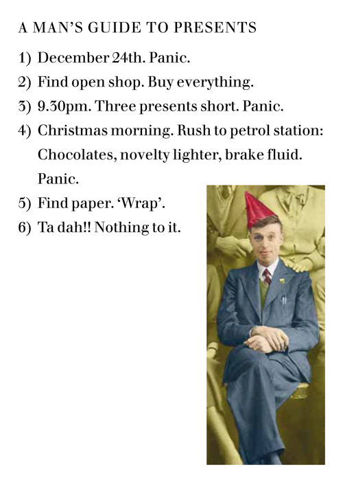 Christmas Card: A Man's Guide to Presents