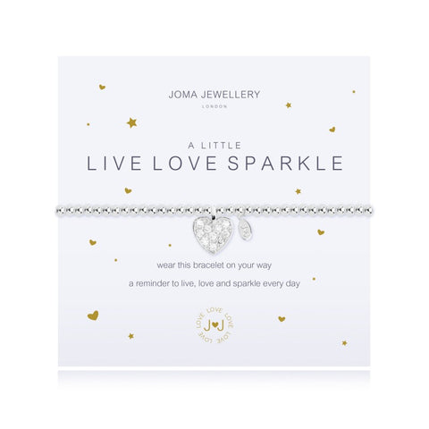 a Little 'Live Love Sparkle' Bracelet