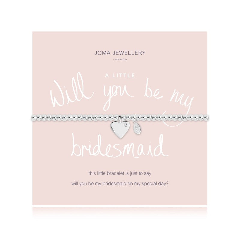 a Little 'Will You Be My Bridesmaid' Bracelet