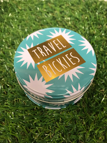 Travel Bickies Mini Round Tin