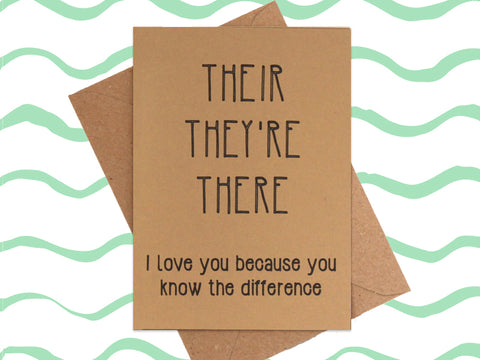 Card: Their, They're, There