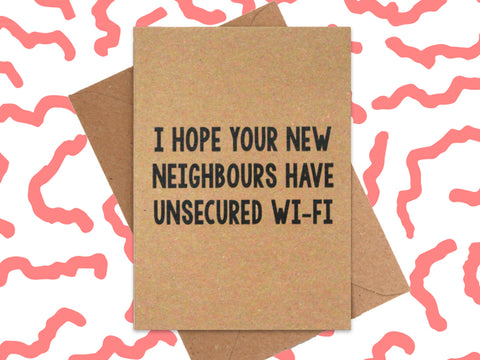 Card: Unsecured Wifi