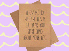 Card: Lie About Your Age