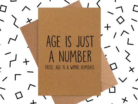 Card: Age is a Word
