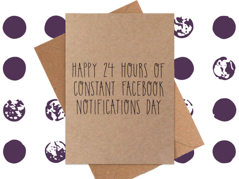 Card: Facebook Notifications Day