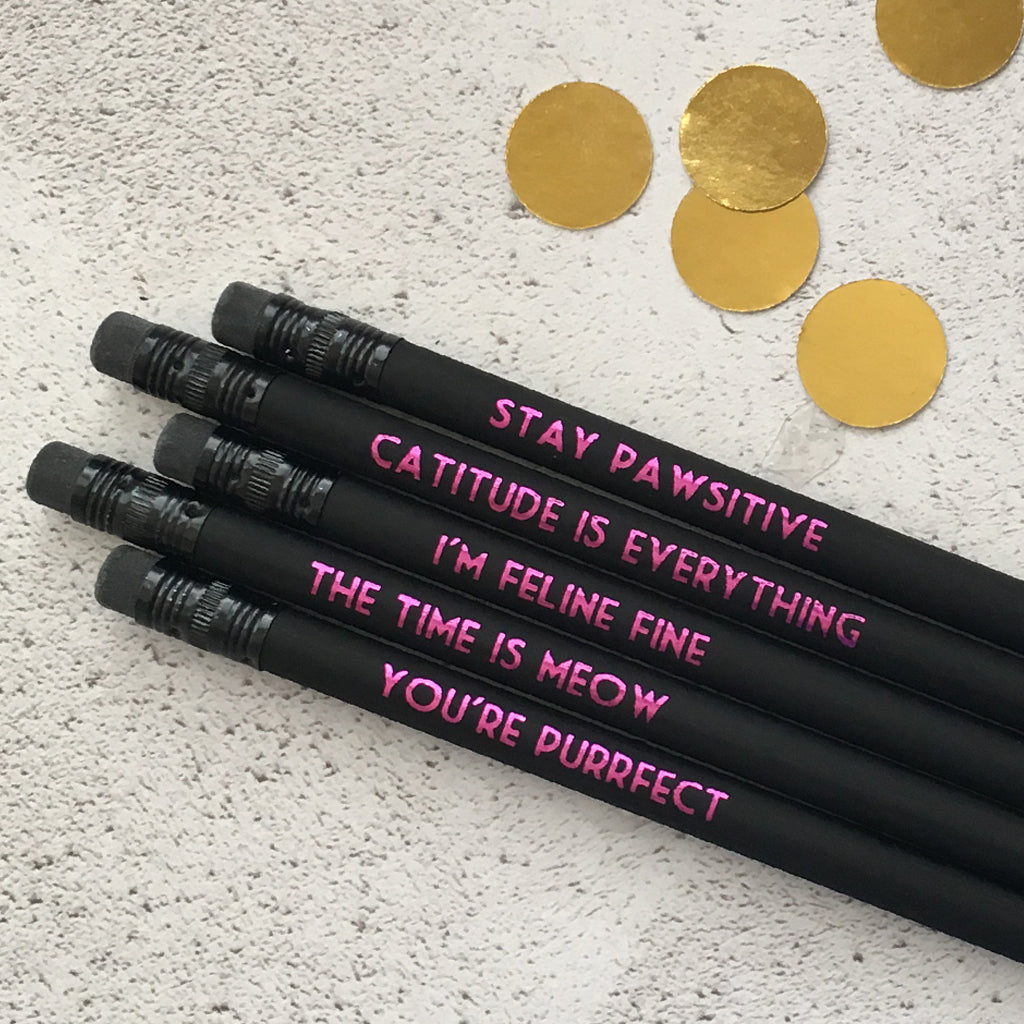 Cat Lover Pencil Set