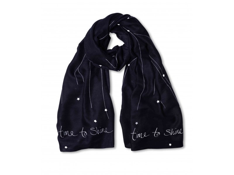 Sentiment Scarf - Time to Shine