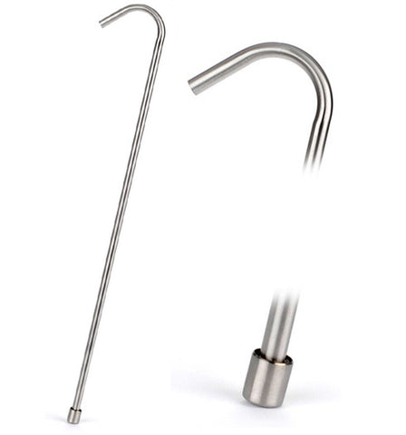 "Racking cane (tube), stainless steel, 3/8"" O.D."