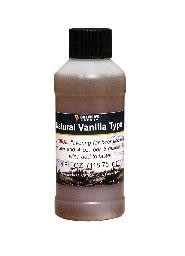 Natural Vanilla Type Flavoring, 4 oz.