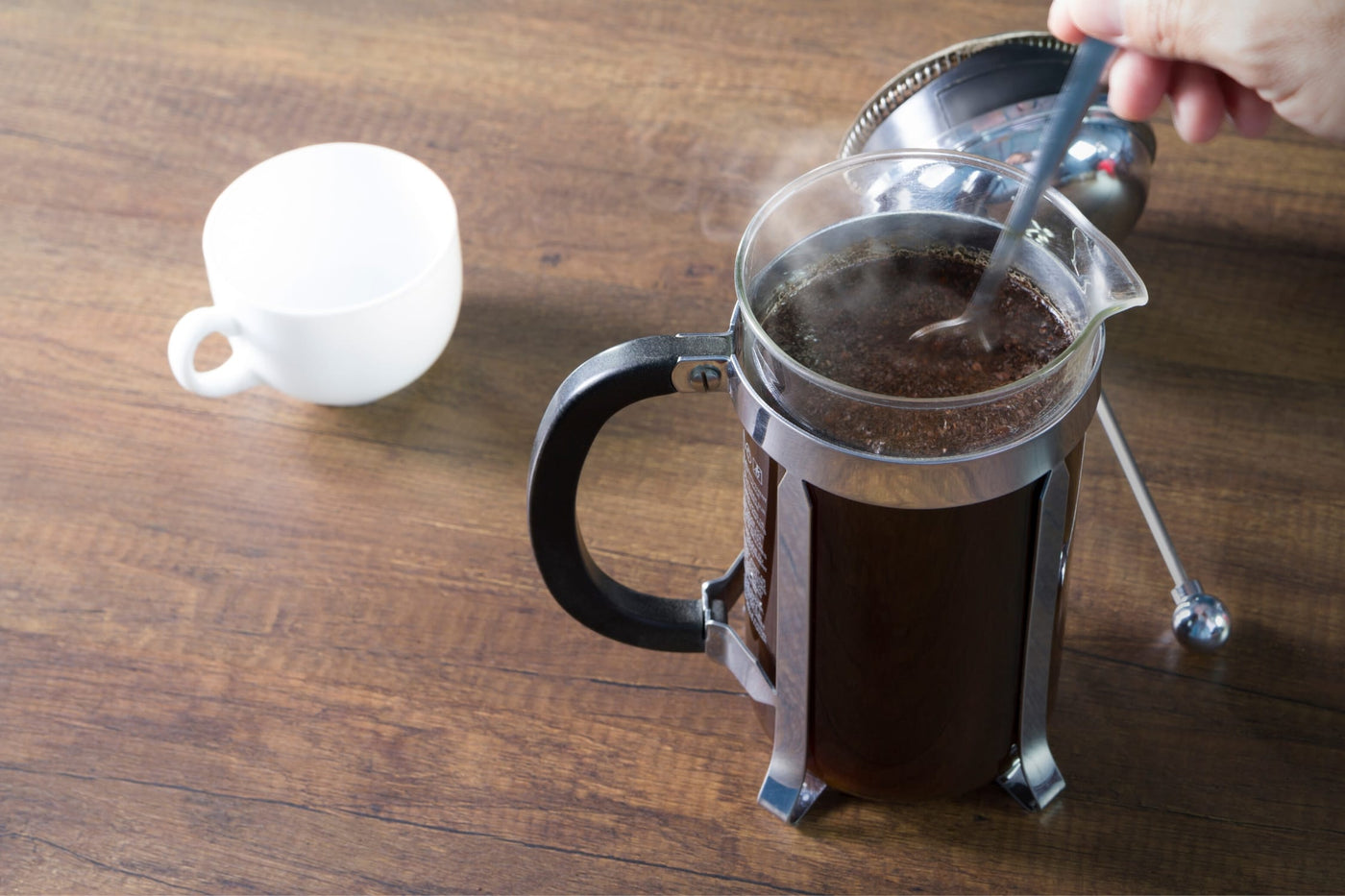 Learn how to brew coffee using a french press