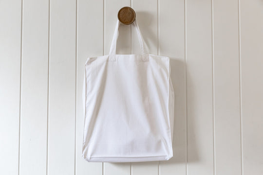 Digital Print Cotton Tote Bag – White