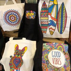 Expressions Creative | NSW Creative Kids Kits colour your own tea towels, bags & aprons