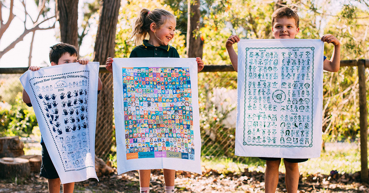 Expressions Australia | Fundraising Tea Towels for Schools Daycares Childcares