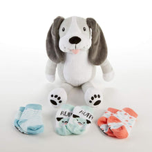 Load image into Gallery viewer, Puppy Plush with Socks for Baby