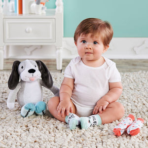 Puppy Plush with Socks for Baby