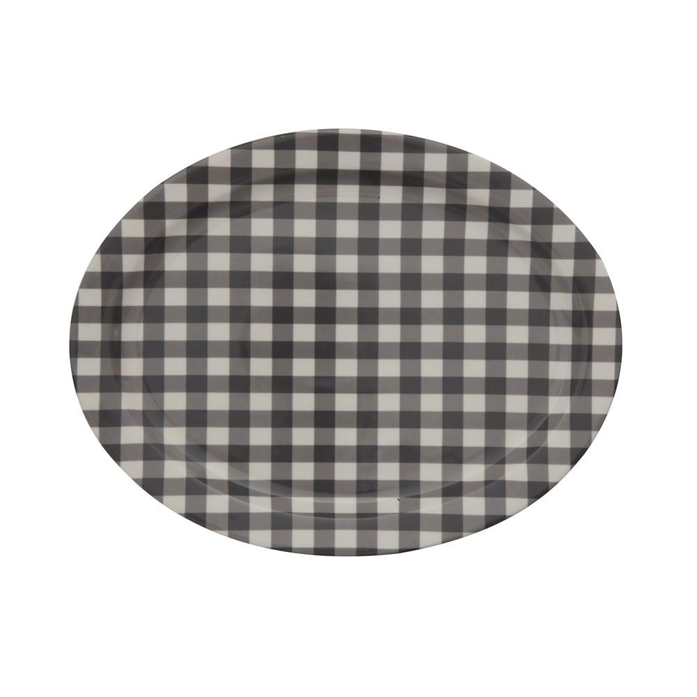 Black & White Gingham Platter