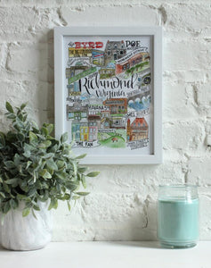 Richmond Landmarks 1 Print
