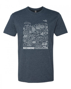 Navy RVA T-shirt